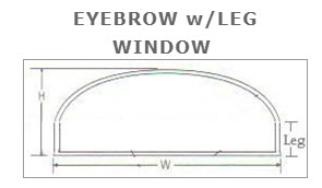 Eyebrow with Leg Karoly Windows and Doors Replacement Impact Clearwater St Pete Beach Largo Palm Harbor