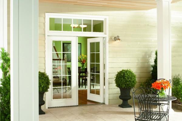 swinging glass patio doors