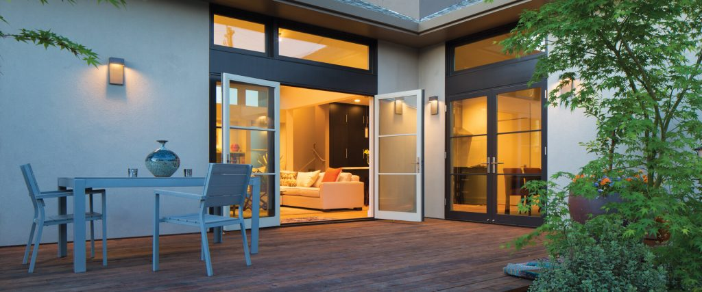 Swinging Patio Door Replacement Outswing Full View SDL Largo