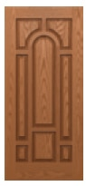 Woodgrain - 8-Panel Center Arch Front Doors - BHI Karoly Windows and Doors Clearwater Palm Harbor Largo Tampa St Petersburg
