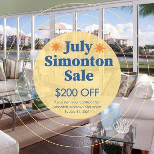 Karoly Windows & Doors July Simonton Sale for Summer 2021 Replacement Windows & Sliding Glass Doors by Simonton